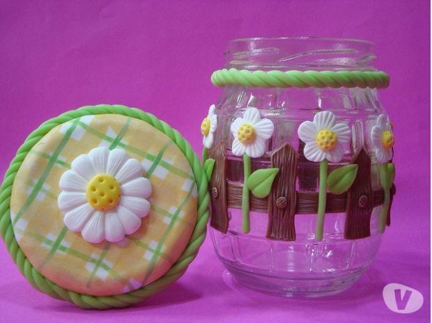 frascos decorados con porcelana - Buscar con Google