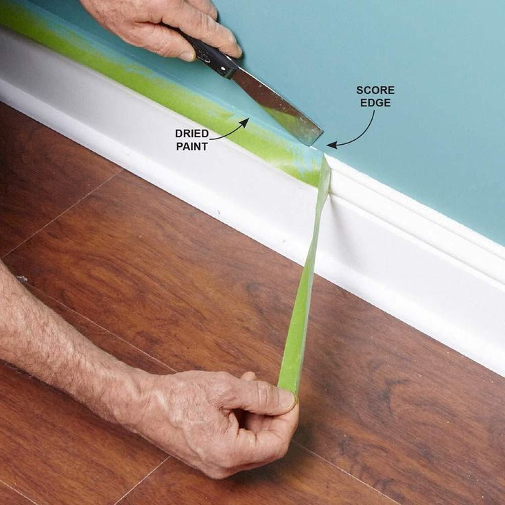Score Painter's Tape Before Pulling It Off - Tips for How to Use Painters Tape: http://www.familyhandyman.com/painting/tips/using-masking-tape-when-painting#8
