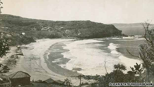 Whale Beach,Sydney in the early years.A♥W
