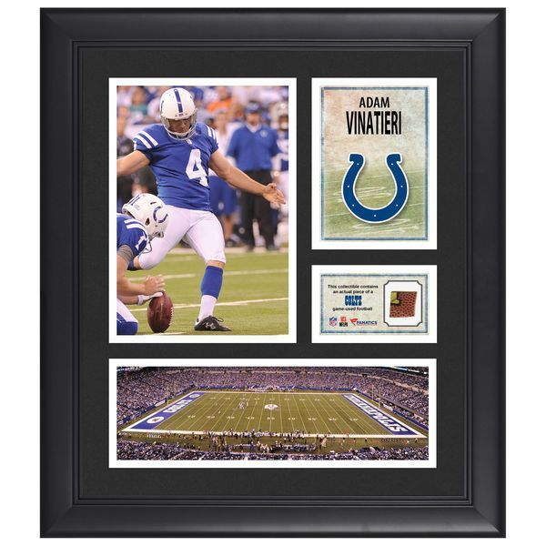 "Adam Vinatieri Indianapolis Colts Fanatics Authentic Framed 15"" x 17"" Collage with Piece of Game-Used Football - $79.99"