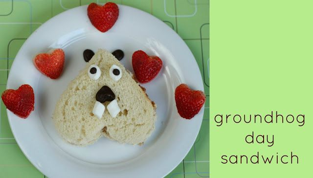 sweet and lovely crafts: groundhog day sandwich