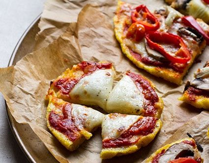 Several pizza crust alternatives, including polenta pizza crust. Can't wait to try them! There is a potato one! Mmm...