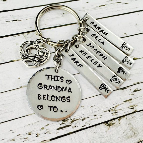 Personalised Keychain-Hand Stamped With The Words This