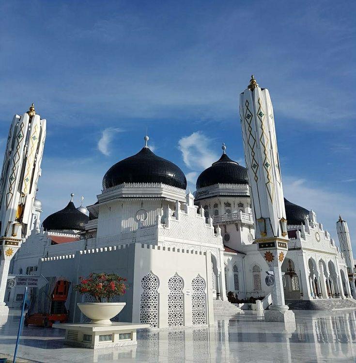 Baiturrahman Grand Mosque Kota Banda Aceh Indonesia Banda Aceh Perjalanan Pantai