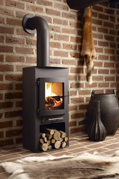 Woodburning stove for tiny spaces.
