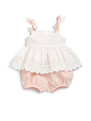 Ralph Lauren Infant's Two-Piece Eyelet Sundress & Bloomers Set