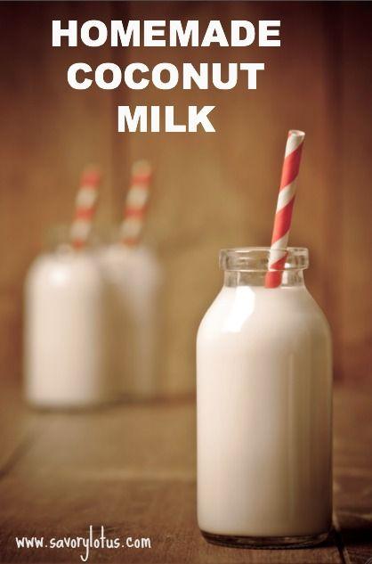 ... Homemade Milk, Nut Milk Recipes, Homemade Coconut Milk, Coconut Milk