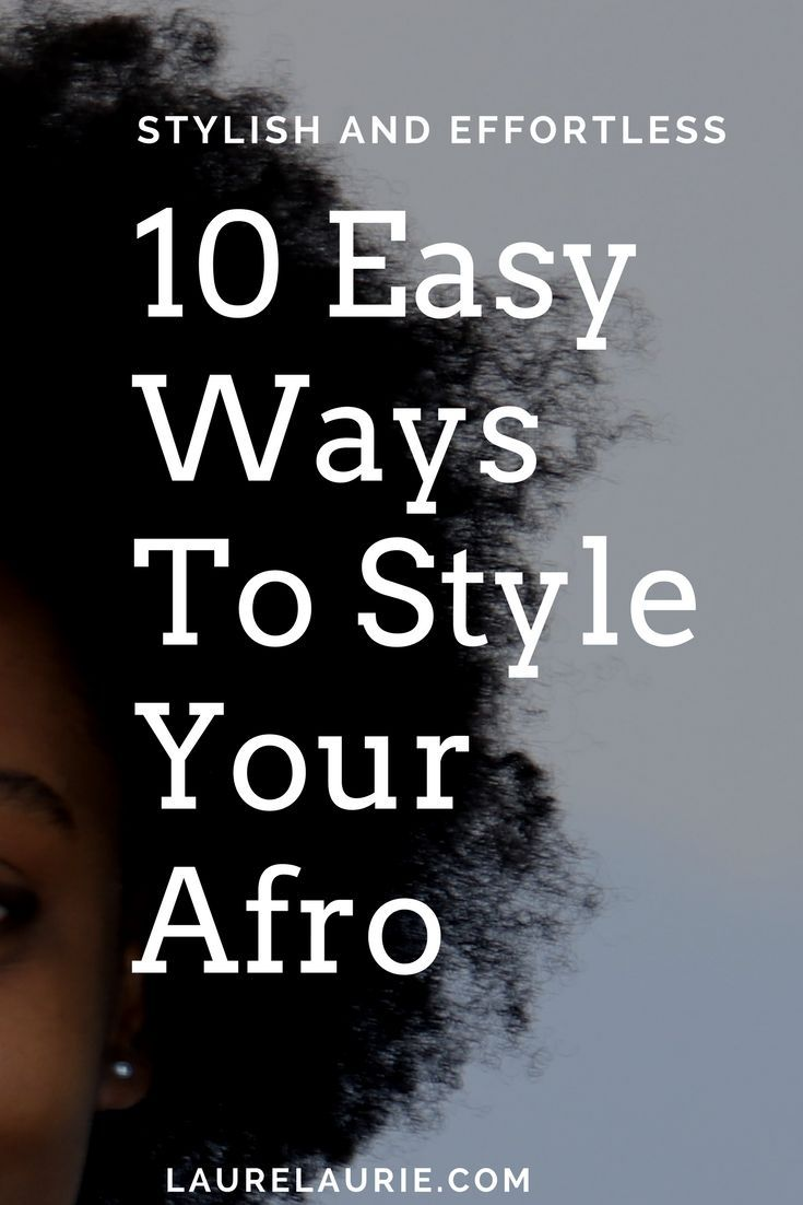 easy ways to style short natural hair black u african
