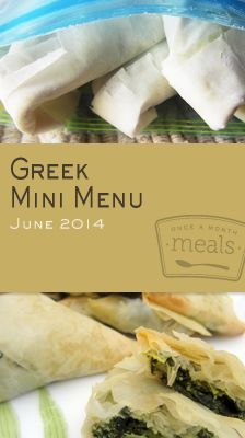 June in Greece Mini 2014 Menu | OAMC from Once A Month Meals