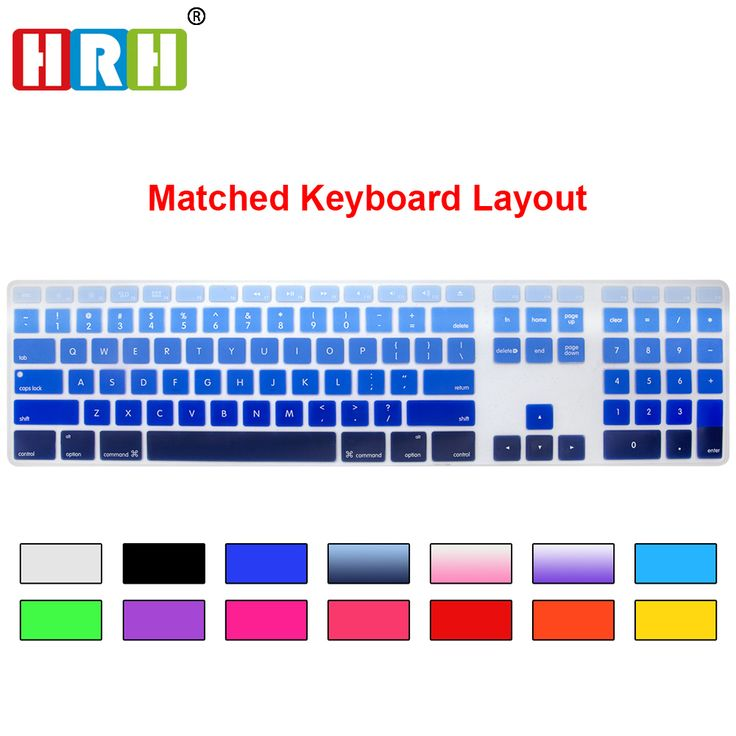 HRH Gradient Color Rainbow GEL Silicone US Keyboard Skin Cover Protector With A Numeric Keypad For Apple iMac G5/G6 MB110LL/A #Affiliate