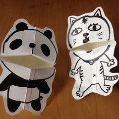 幼児おもちゃの作り方牛乳パックで作る手作りおもちゃ。牛乳パックを使って、口がパクパク動く人形の作り方を紹介します。用意するもの牛乳パック、ハサミ、油性マジック。牛乳パックの角を、底から10㎝ぐらいの所まで切り込みを入れます。反対側の角も同じ