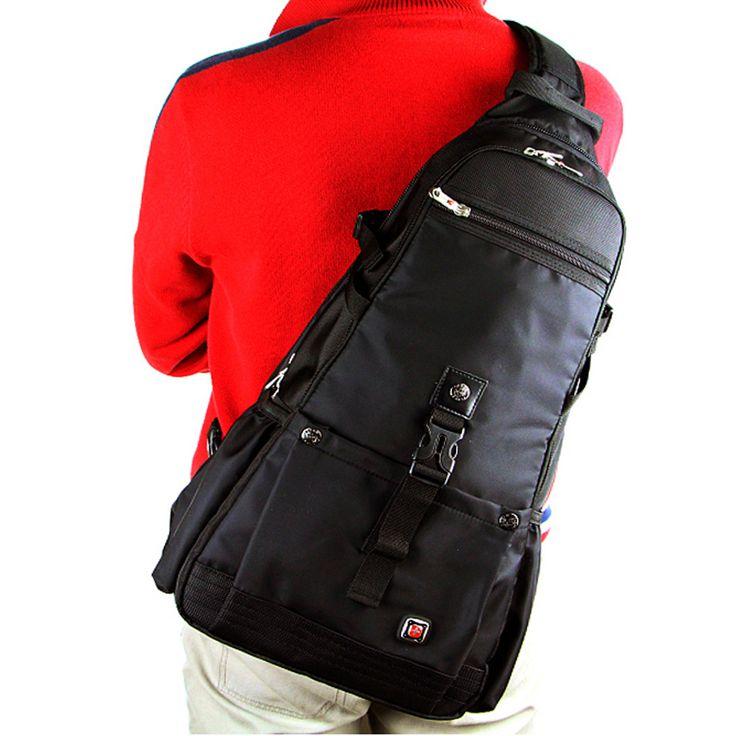 Военные мужская Черный Грудь сумка Школьная сумка Ноутбук сумка Слинг-Рюкзак