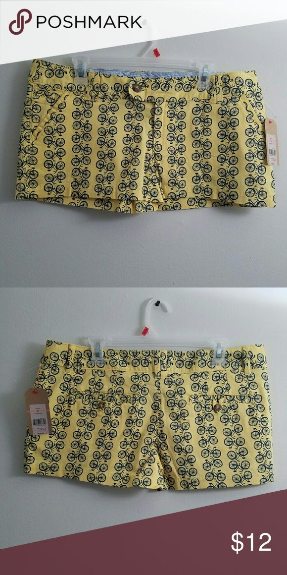 5hr sale! Bicycle print shorts. New! New. Junior's size 13 shorts. So cute. Perfect with a white or denim top. Purchased on sale for 19.99.  Open to offers. Item is cross posted. 30% off all bundle purchases! Red Camel Shorts