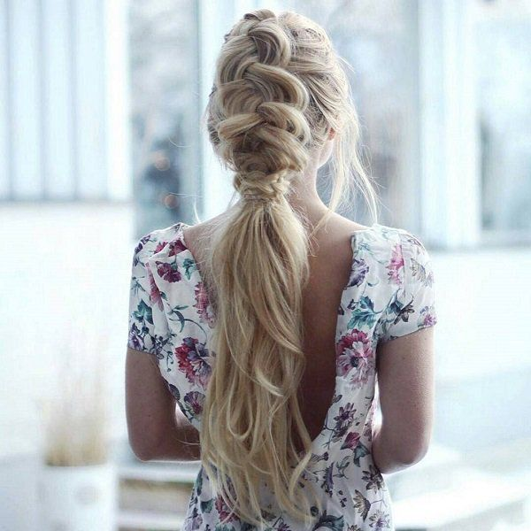 Another dreamy messy dutch braid. Wearing it with a dress would really make you a dreamboat.
