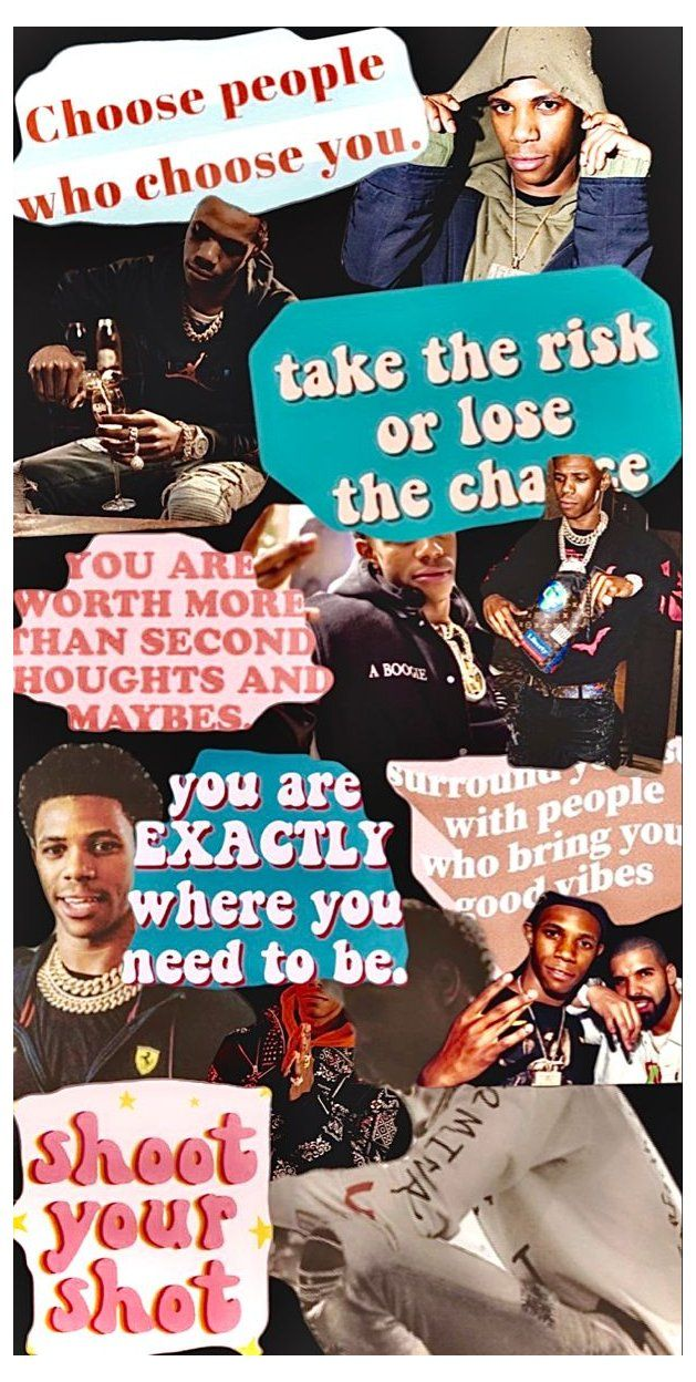 A Boogie Wit Da Hoodie Wallpaper Collage A Boogie Wit Da Hoodie Aesthetic Wallpaper Wallpaper Colla Rapper Quotes Rap Wallpaper Rapper Wallpaper Iphone