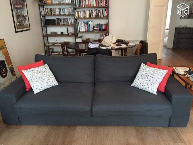 canape ikea kivik 3 places convertible housse bemz | living room