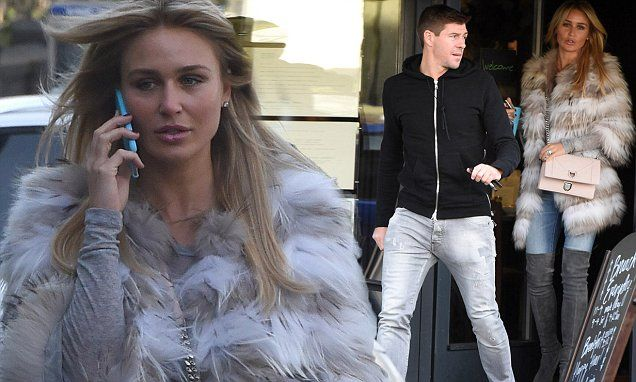 Steven Gerrard and WAG wife Alex step out together in their native Liverpool | Daily Mail Online