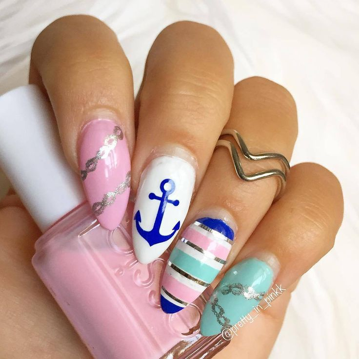 The 25 best nails with anchor design ideas on pinterest anchor stencils anchor patternanchor designssummer nail prinsesfo Gallery