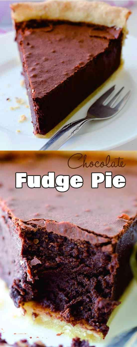 about Fudge Pie on Pinterest | Chocolate fudge pie, Fudge brownie pie ...