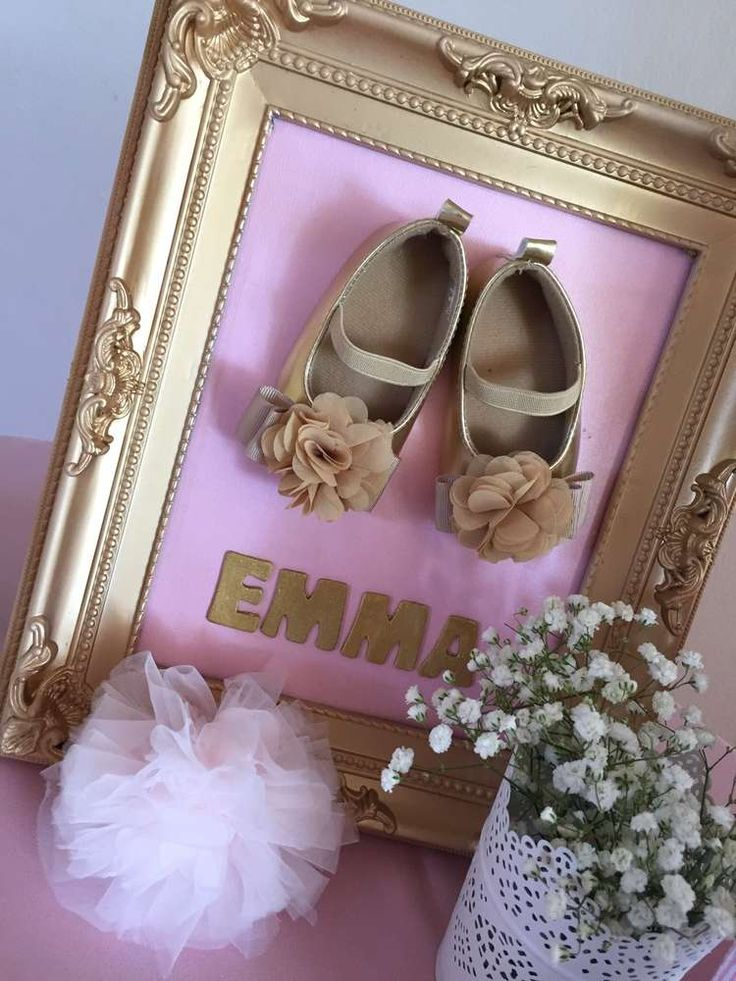 Pink and gold baby shower party picture! See more party planning ideas at CatchMyParty.com!