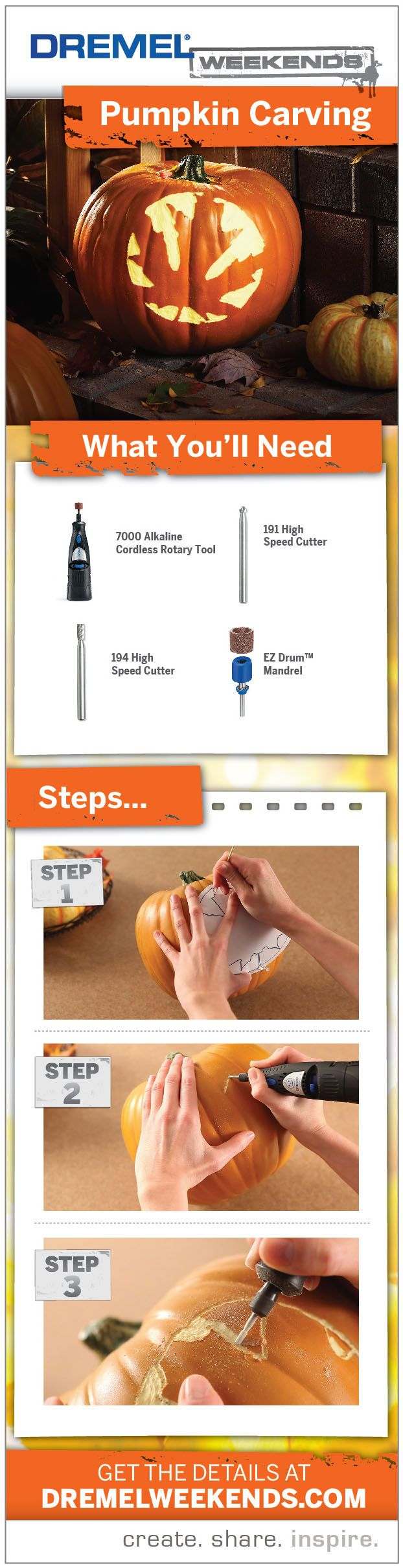 210 best dremel ideas images on pinterest wood bamboo and do it curious how to carve a pumpkin with a dremel tool get the details on dailygadgetfo Image collections