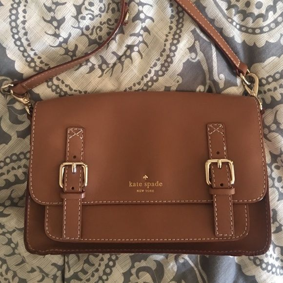 Brown Kate Spade purse Great condition, selling because I don't use it as much anymore! kate spade Bags Crossbody Bags