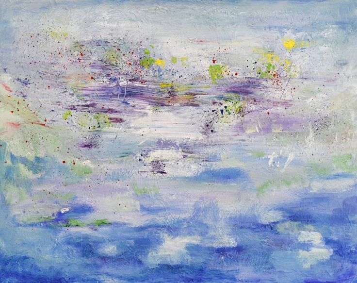 Buy Prints of RI725, a Acrylic on Canvas by Radek Smach from Czech Republic. It portrays: Landscape, relevant to: sky, blue, water, impressionosm, abstract, lake, landscape Original abstract layered painting on canvas.  Ready to hang. No framing required (it can be framed).