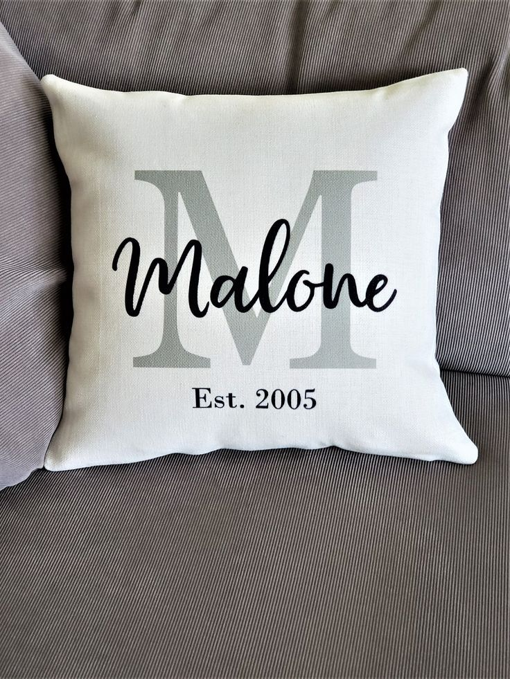 Wording Cushion Pillow Case /& InsertPillowcase Cover Personalised Photo