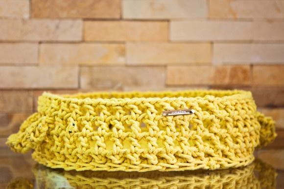 Cesta de Mesa feita de crochê