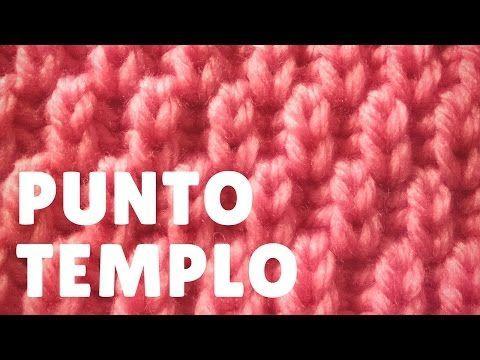 """Punto """"templo"""" (dos agujas) - YouTube"""