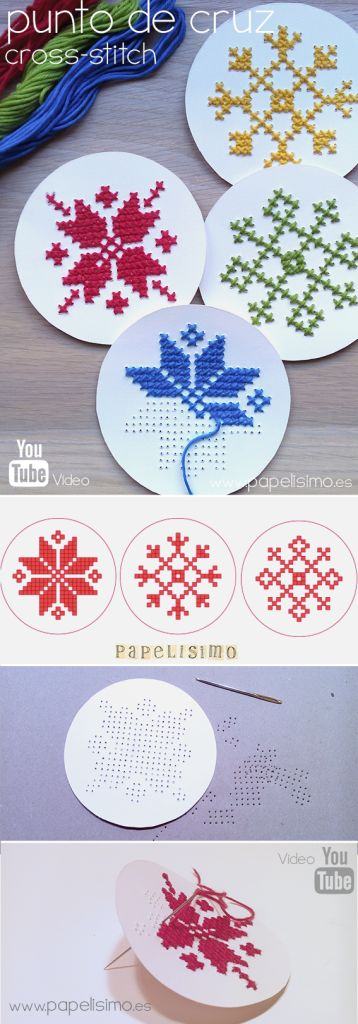 How to cross stitch -- on paper!  for beginners