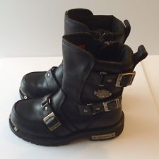 womens harley davidson boots no.81638 triple strap and zipper