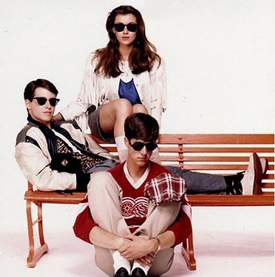Matthew Broderick(left), Mia Sara(top),  Alan Ruck(bottom center) Ferris Bueller's Day Off(1986)