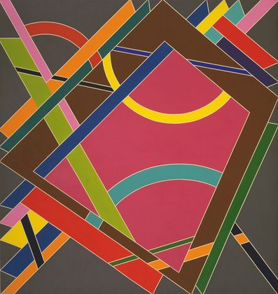 "William T. Williams (American, born 1942) Elbert Jackson L.A.M.F. Part II Date:    1969 Medium:    Synthetic polymer paint and metallic paint on canvas Dimensions:    9' 1 7/8"" x 8' 7 1/4"" (279 x 292.6 cm)"