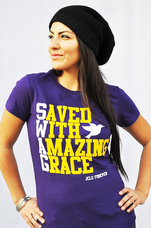 WOMEN-SHIRT-SWAG-PURPLE-Christian T-Shirt by JCLU Forever Christian t-shirts <- will be buying this