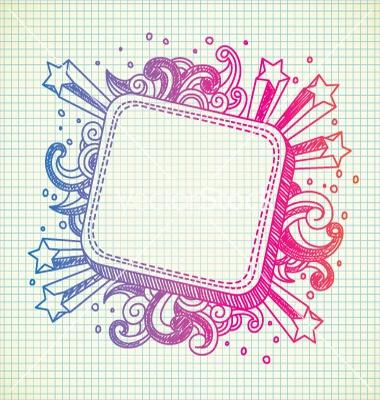 star explosion doodle frame