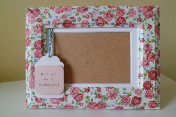 Will you be my Bridesmaid Gift  Photo Frame by OloveDesigns, £10.99