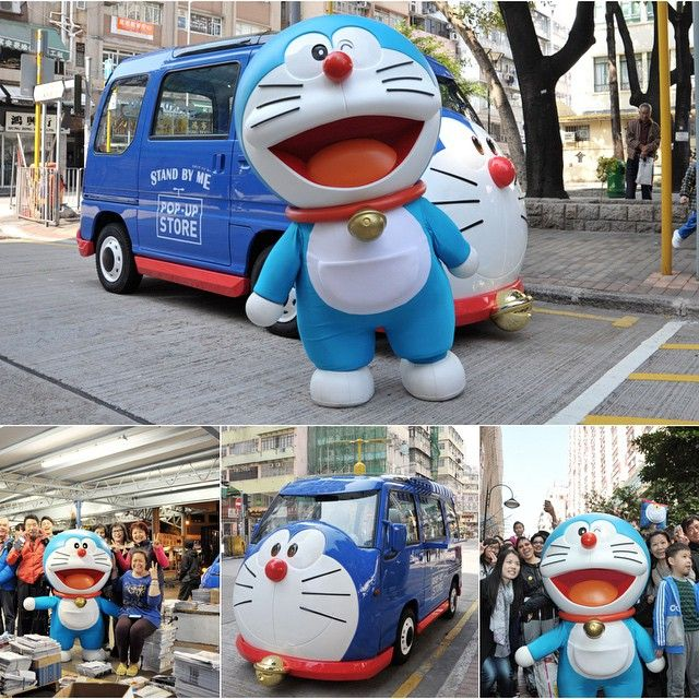 It's been a busy day for Doraemon today. Touring with his van to meet up fans like a superstar at places like Star Ferry Pier at Tsim Sha Tsui, Kowloon Park, school at Sham Shui Po and Causeway Bay. Did any of you see him? ‪#allabouthongkong #Doraemon #hongkong #hk