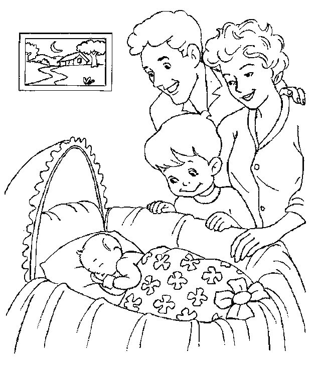 Free Printable Baby Coloring Pages For Kids Baby Coloring Pages Family Coloring Pages Birthday Coloring Pages