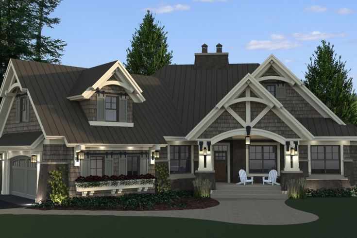 Craftsman Style House Plan - 3 Beds 3 Baths 2177 Sq/Ft Plan #51-571 Exterior - Front Elevation - Houseplans.com