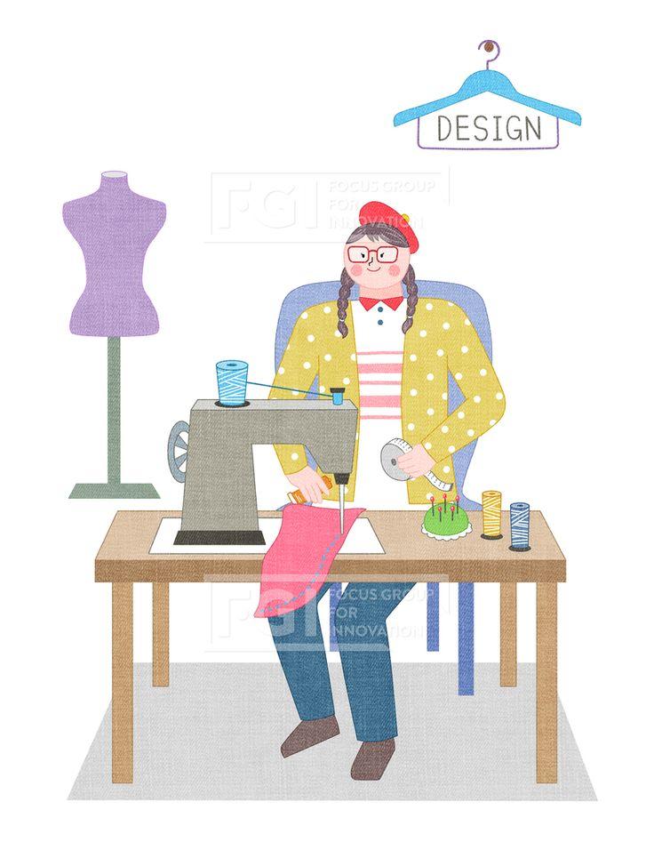 SPAI146, 프리진, 일러스트, 에프지아이, 직업, 직업군, 사람, 캐릭터, 일러스트, 비즈니스, 웃음, 미소, 행복, 손짓, 심플, 재밋는, 꿈, 장래희망, 장래, 희망, 교육, 여자, 앉아있는, 책상, 미싱, 디자이너, 패션, 패션디자이너, 옷, 옷감, 박음질, 실, 패브릭, 마네킹, 모자, 안경, 재봉틀, 소상공인, 창업, 쇼핑몰, 쇼핑, 줄자, 시침, 옷걸이, 직원, 직장, illust, illustration #유토이미지 #프리진 #utoimage #freegine 20027652