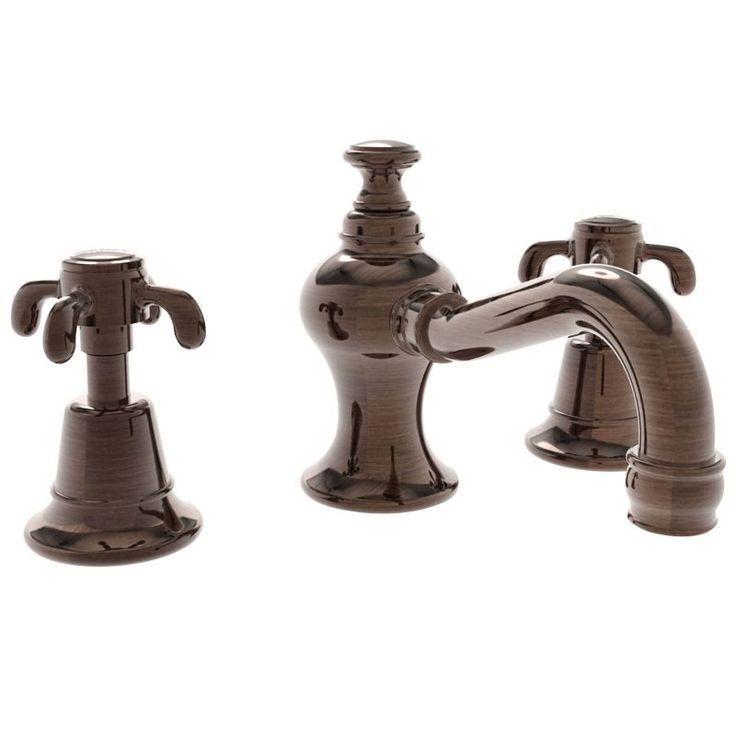Newport Brass 1680 Virginia Double Handle Widespread Lavatory Faucet with Metal Venetian Bronze Faucet Lavatory Double Handle