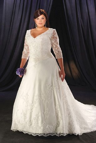wedding dresses plus size love the sleeves hate the dress