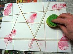 Watercolor stamp technique
