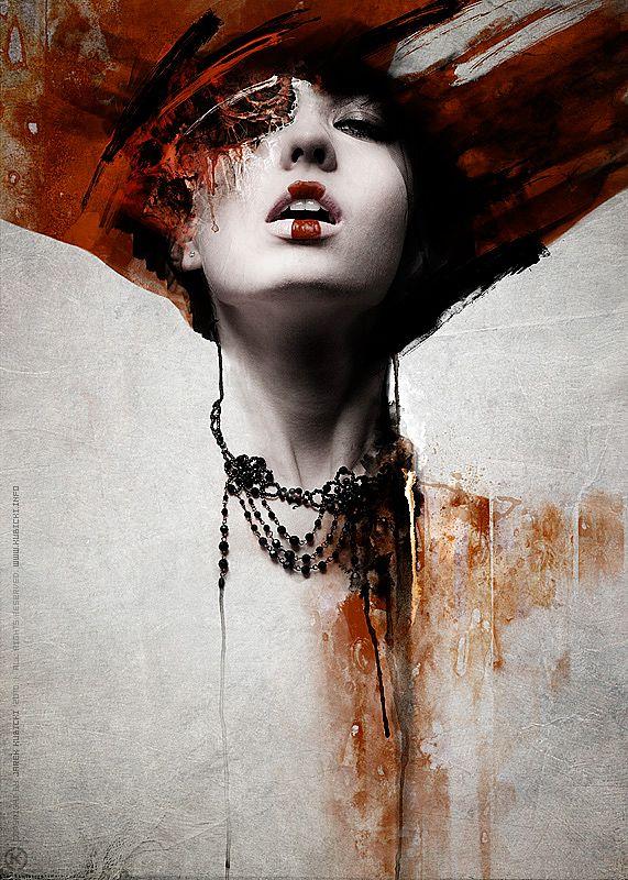 paint splash on women photograph   Photo manipulation, Kubicki, Woman, Painting, Abstract   A Creative ...