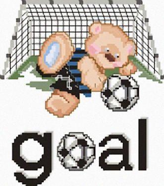 Punto croce orso goal inter