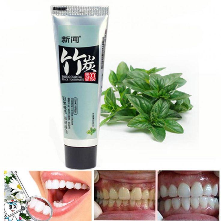 Бамбук угольно черного зубная паста анти   дурной запах изо рта go дыма пятна испачкать отбеливание зубов уход за полостью рта отбеливающая зубная паста H290 купить на AliExpress