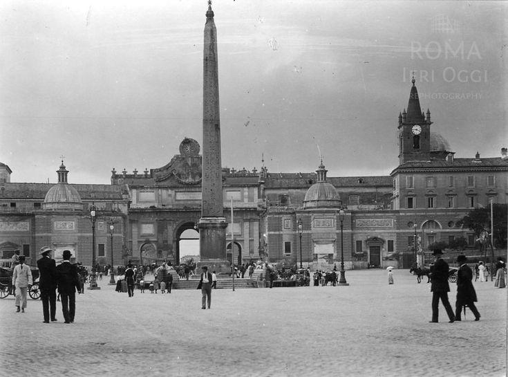 Piazza del Popolo (1907) | Roma Ieri Oggi