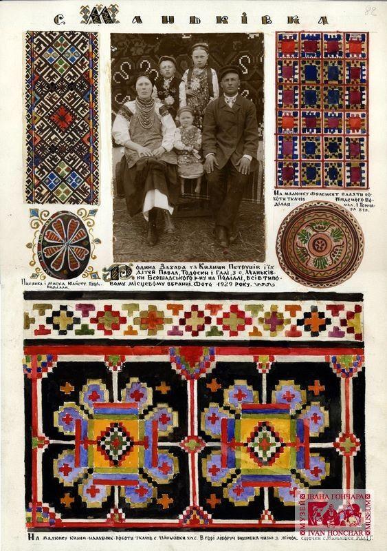 "Mankivka vil., Bershad raion, Vinnytsya region. ""Ukraine and Ukrainians"" album. Ivan Honchar Museum"
