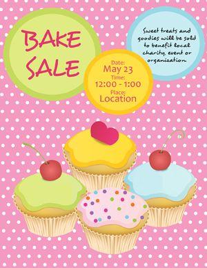 free bake sale flyer - cute overload